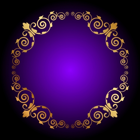 Vector purple background with floral decoration Vector