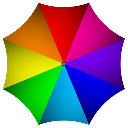 Vector illustration of colorful umbrella Vector