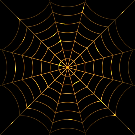 Vector illustration of glowing cobweb Vector