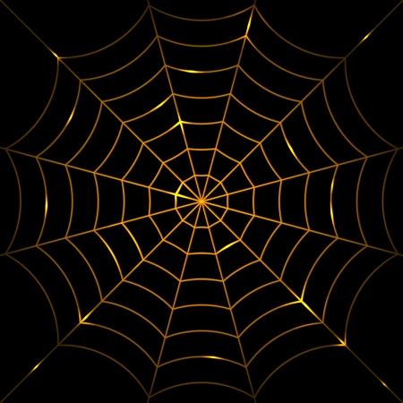 cobweb: Vector illustration of glowing cobweb