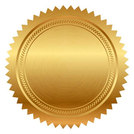 zeehonden: Vector illustratie van gouden zegel