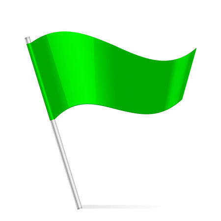 winning location: Vector green flag Illustration
