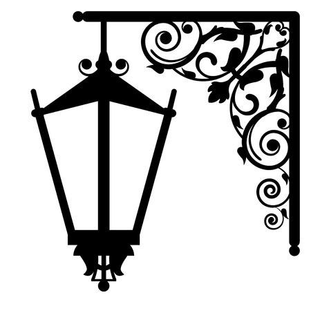 cổ điển: Vector hình minh họa của đèn đường cổ điển
