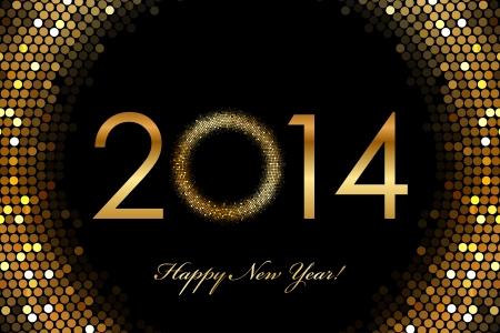 fiestas electronicas: Vector - 2014 Feliz A�o Nuevo 2014 Fondo brillante