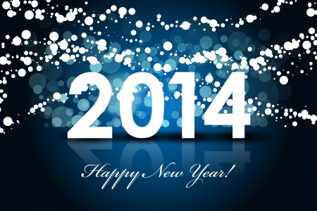 2014 - Happy New Year background Stock Vector - 23563952