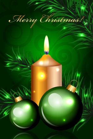 Vector Christmas green background Vector