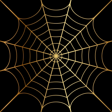 Vector illustration of gold cobweb Vector