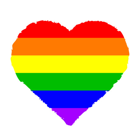 bisexuality: Vector illustration of colorful heart