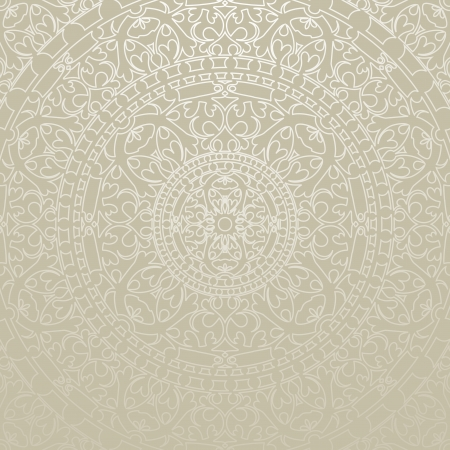 Vector oriental gray background with ornament Vector