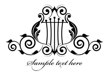 lyra: Vector illustration musical icon Illustration