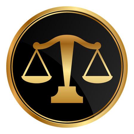 Vector rechtvaardigheidsschalen pictogram Stock Illustratie