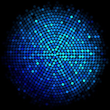 青色のディスコ ライトのベクトルの背景