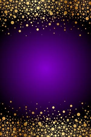 estrellas moradas: Vector de fondo morado y oro de lujo Vectores