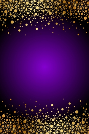 glam: Vector purple and gold luxury background