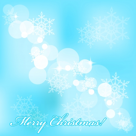 frosted: Vector Merry Christmas background with snowflakes
