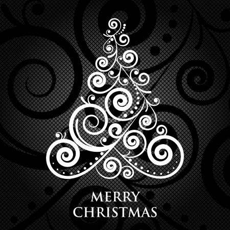 Vector Merry Christmas vintage card Illustration