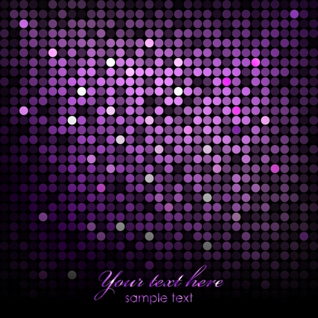 disco lights: Vector abstract background - purple disco lights