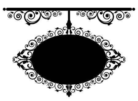 Vector illustration of antique signboard