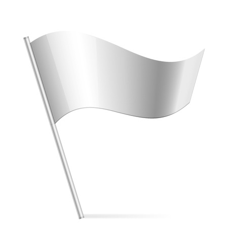 pennants: Vector illustration of silver flag
