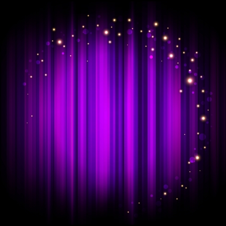 Vector purple stage background with lights Vector
