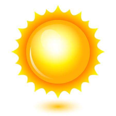 weather cartoon: Vector illustration of shiny sun