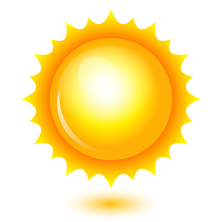 high temperature: Vector illustration of shiny sun