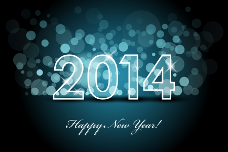 2014 - New year background Vector