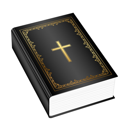 花飾り付きホリー聖書のベクトル イラスト