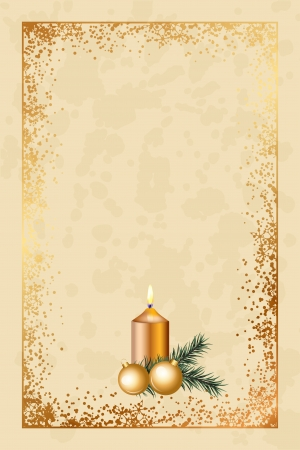 old fashioned: Vector old fashioned christmas card  Illustration