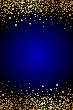 sparkles: Vector blue background with gold sparkles