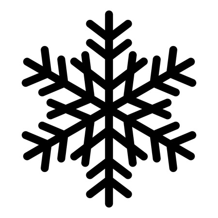 icicle: Vector snowflake silhouette Illustration