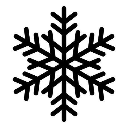 snowflakes background: Vector snowflake silhouette Illustration