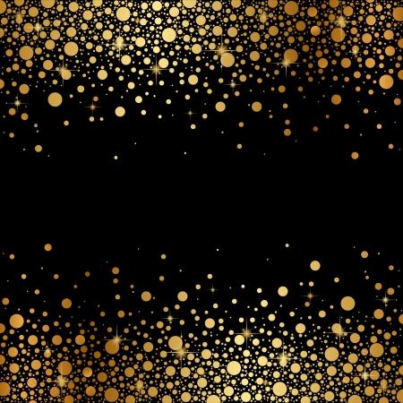 Vector schwarzen Hintergrund mit Gold Schnee