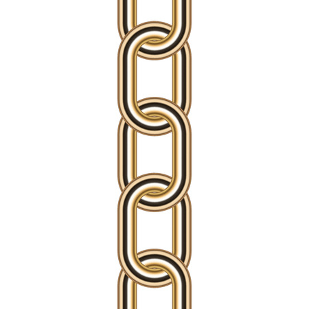 necklet: Vector illustration of gold chain Illustration