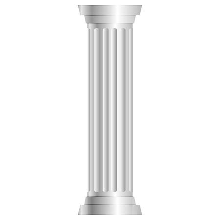 durable: Vector illustration of gray column