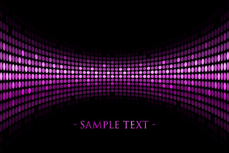 Vector black background with purple lights with space for your text Illustration