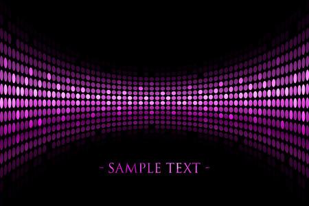 Vector zwarte achtergrond met paarse verlichting met ruimte voor uw tekst