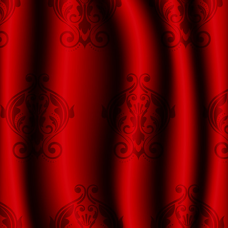 Vector illustration ofred material with pattern Vector