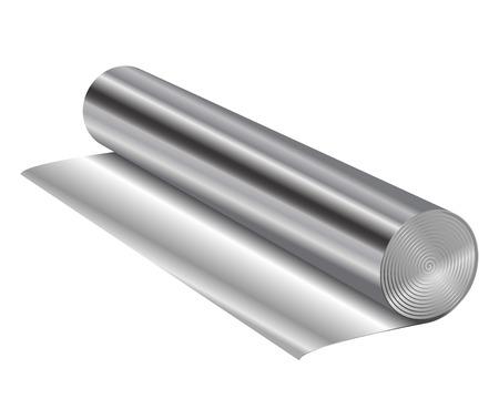 metaal: Vector illustratie van aluminiumfolie