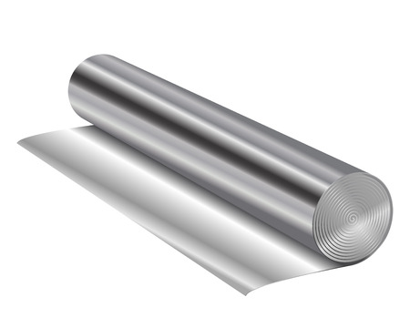Vector illustration of aluminum foil Illustration