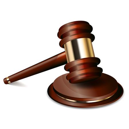Vector illustration of judge gavel Vector