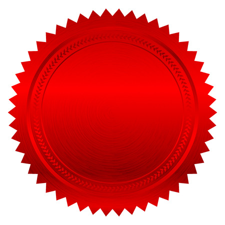 赤いシールのベクトル イラスト