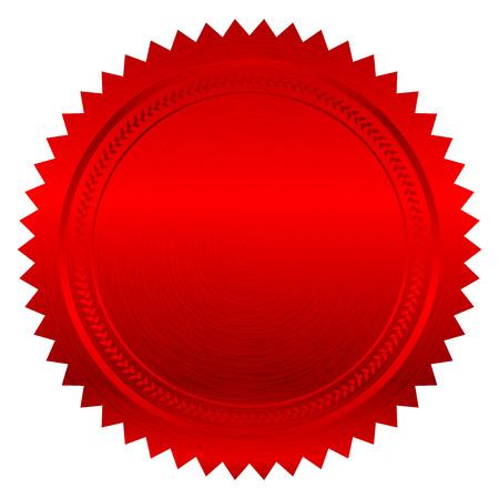Vector illustration de sceau rouge Illustration