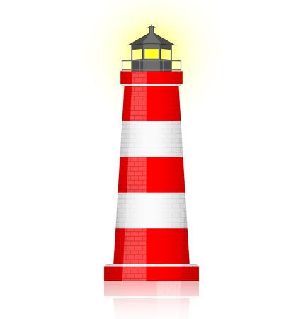 灯台のベクトル イラスト  イラスト・ベクター素材