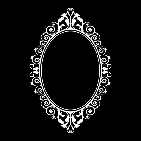 ovalo: Ilustración del vector del marco de la vendimia