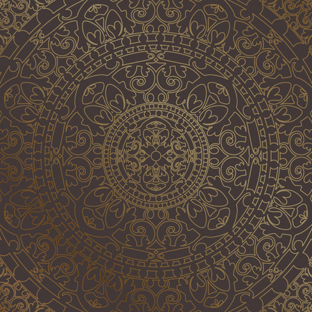ornamented: Vector background with gold oriental ornament