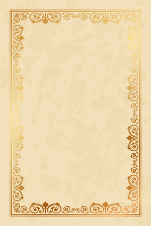 Vector parchment paper background with floral ornaments Vector