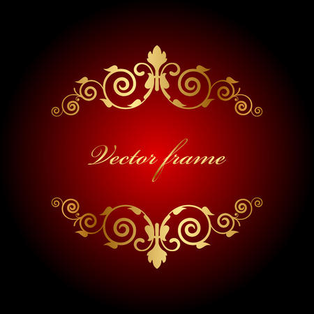 Vector luxury background with gold ornament Vector