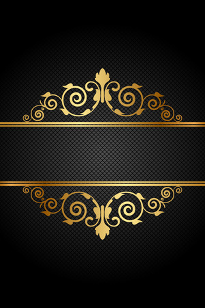 luxury: Vector vintage frame with gold ornament