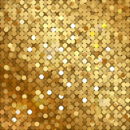 textura oro: Vector fondo de oro con lentejuelas